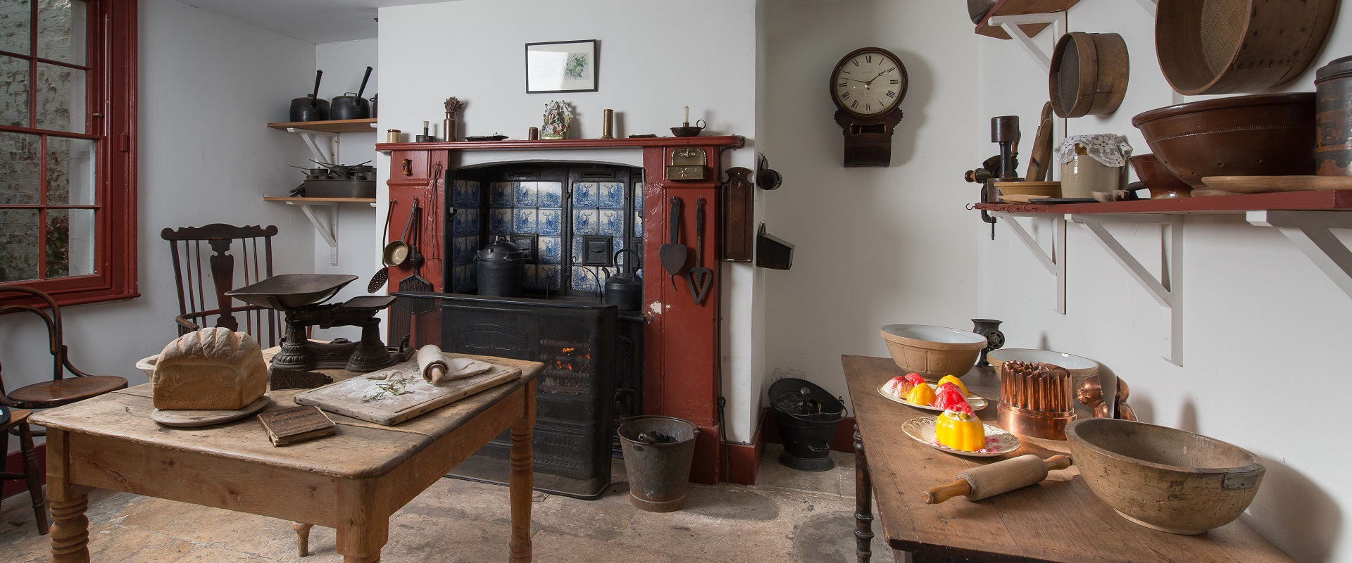 The kitchen in the Holst Victorian House