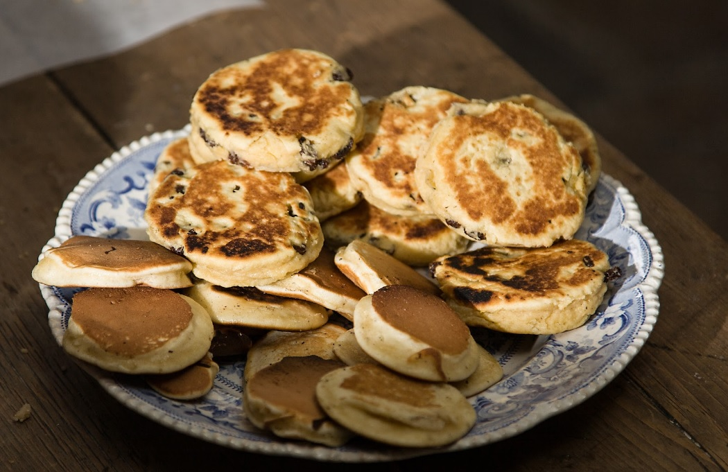 Drop scones on a plate